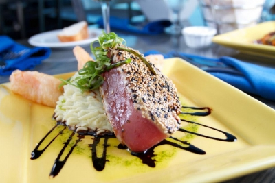 Sesame Seared Yellowfin Tuna, Surf Restaurant, Portsmouth